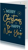 Typografische kerstkaart met sneeuwvlokken