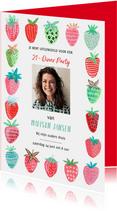Uitnodiging 21 diner aardbeien