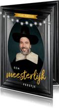 Uitnodiging 50 jaar man schilderij Rembrandt van Rijn