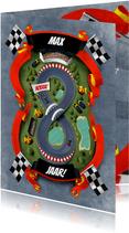 Uitnodiging 8 jaar racebaan