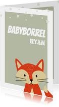 Uitnodiging babyborrel voor een jongen