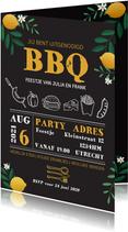 Uitnodigingen - Uitnodiging BBQ met takjes