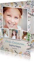 Uitnodiging Communie Vintage