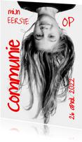 Uitnodiging communiefeest foto