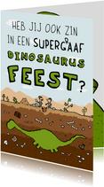 Kinderfeestjes - Uitnodiging dinosaurus kindereestje