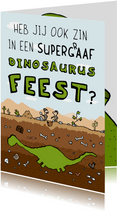 Uitnodiging dinosaurus kindereestje
