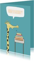 Uitnodiging Feesie de la giraffe!