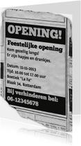 Uitnodiging - feestelijke opening advertentie