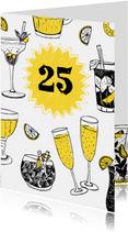 Uitnodiging feestje met drankjes