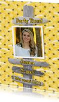Uitnodigingen - Uitnodiging foto cupcake geel