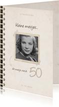 Uitnodiging fotoboek 'kleine meisjes worden groot'