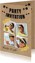 Uitnodiging fotocollage slinger kraftprint
