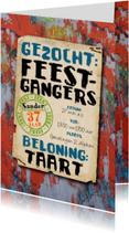 uitnodiging graffiti mannen tiener