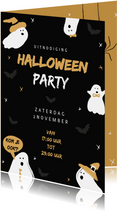 Uitnodiging halloweenfeest happy halloween illustratie
