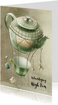 Uitnodiging High Tea scrapbook theepot