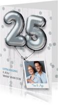 Uitnodiging huwelijk jubileum 25 jaar