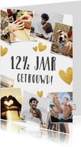 Uitnodiging huwelijksjubileum 12,5 jaar - fotocollage