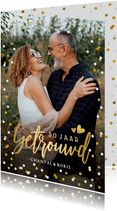 Uitnodiging huwelijksjubileum met grote foto en confetti