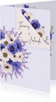 Uitnodiging jubileum anemonen