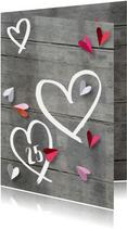 Uitnodiging jubileum hart hout