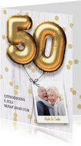 Uitnodiging jubileumhuwelijk 50 jaar