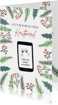 Uitnodiging kerstborrel digitaal