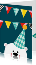 Uitnodiging kinderfeestje beer
