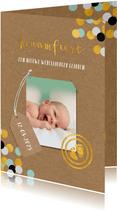 Uitnodiging kraamfeest baby jongen paspoort