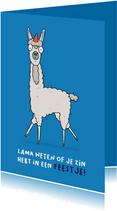 Uitnodiging Lama weten of je komt!