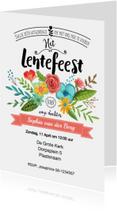 Uitnodiging Lentefeest Bloemen