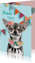 Uitnodiging met grappig hondje