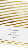 Uitnodiging nieuwjaarsborrel strepen goud 2019