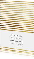 Uitnodiging nieuwjaarsborrel strepen goud