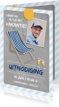 Uitnodiging pensioenfeest altijd vakantie