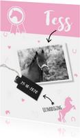 Uitnodiging roze paardje
