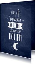 Uitnodiging Sinterklaas kaart pakjesavond typografisch