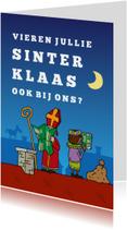 Sinterklaaskaarten - Uitnodiging Sinterklaas Kaartlezen