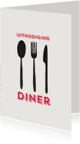 Uitnodiging Spoon Fork Knive