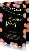 Uitnodiging summerparty tuinfeest