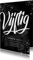 Uitnodiging surprise party feestje 50 jaar krijt man