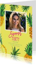 Uitnodiging Tropisch feestje Ananas