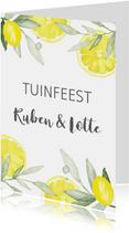 Uitnodiging tuinfeest citroen