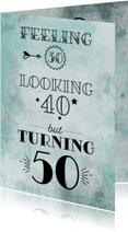 Uitnodiging turning 50 aquarel