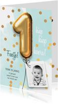 Uitnodiging verjaardag 1 jaar jongen