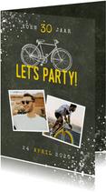 Uitnodiging verjaardag 30 jaar fiets, foto's en spetters