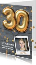 Uitnodiging verjaardag 30 jaar