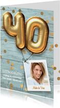 Uitnodiging verjaardag 40 jaar feest