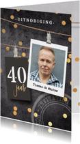 Uitnodiging verjaardag 40 man