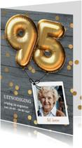 Uitnodiging verjaardag 95 jaar ballon