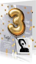 Uitnodiging verjaardag jongen 3 jaar